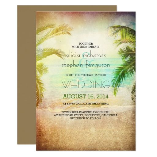 Best Beach Wedding Invitations Ideas On Pinterest Beach