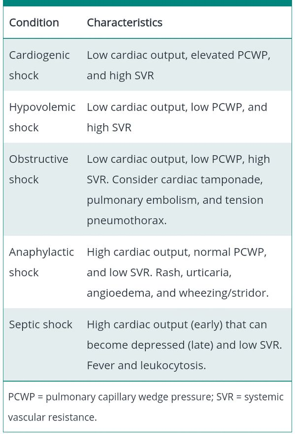 shock syndromes