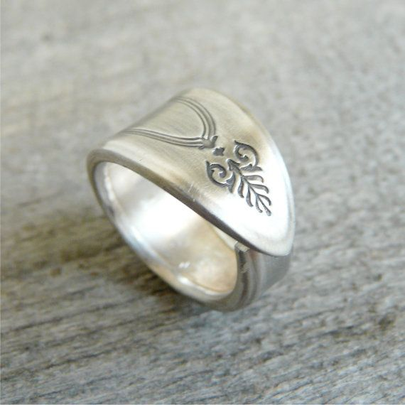 Cool Spoon Ring Choose your Size Adam Pattern from by Revisions
