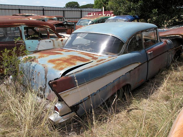 1957 Chevrolet Bel Air Rusted Rides Pinterest 1957