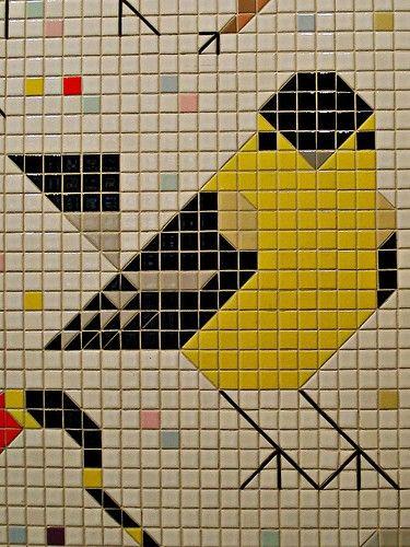 Best 20 modern tile murals ideas on pinterest for Charley harper mural