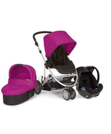 Zoom Trio Package - Black/Lime - Travel Systems - Mamas & Papas