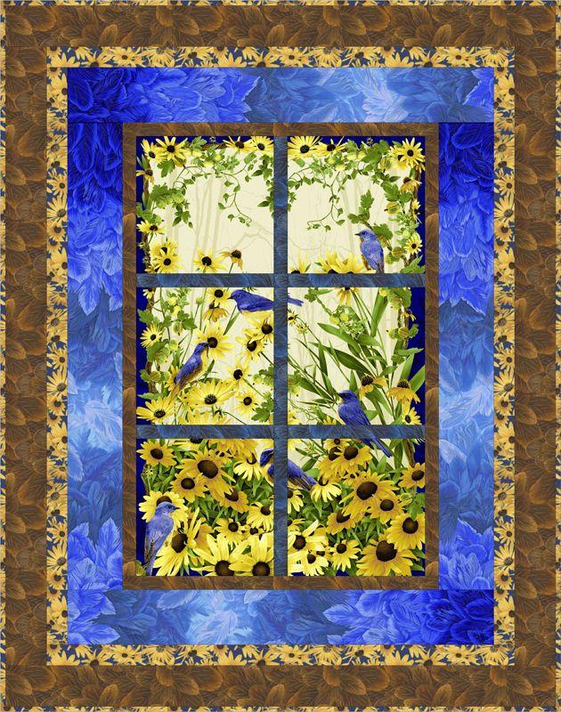 FREE PATTERN >> Bluebird Quilt by Kathryn Wilson Tucker - Bluebird by Chong-a Hwang - Timeless Treasures