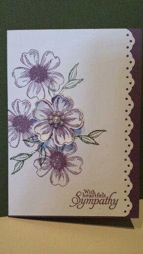 SU Flower shop sympathy card- very pretty