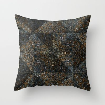 Granite Kaleidoscope Throw Pillow by Zeosite - $20.00. Geometric shapes, home, decor, art, design, marble, texture, contemporary, cushion, cover.