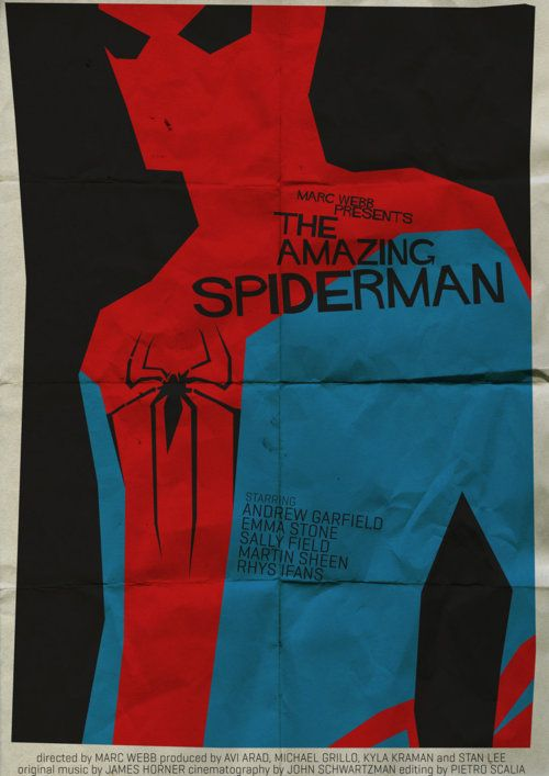 Saul Bass-inspired The Amazing Spider-Manposter.