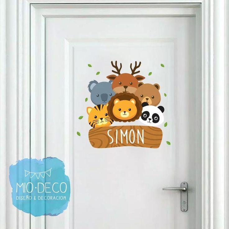 vinilos infantiles decorativos con nombre para puerta