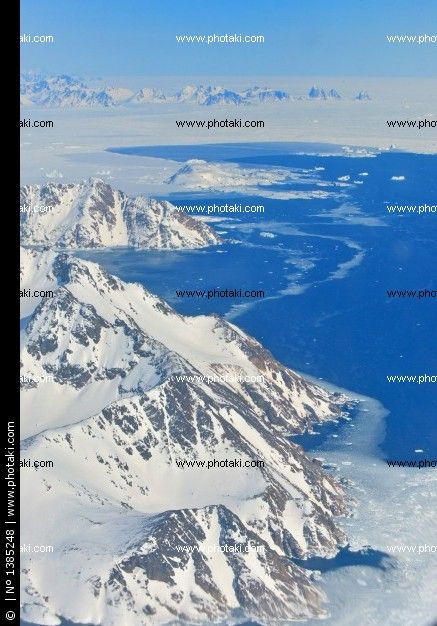 Winter landscape - panorama at the north pole
