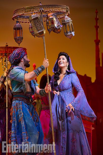 The real, live Princess Jasmine from Aladdin on Broadway!  Aladdin opens for previews at the New Amsterdam Theater on February 26.