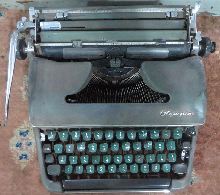 Olympia de luxe Mannual typeWriter Sr.No. 806355 With GUJARATI Language Keyboard #Olympia