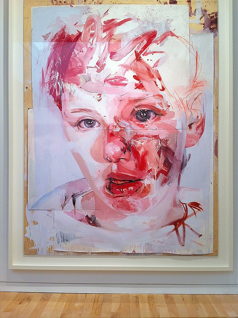 portrait: pink paint: by Jenny Saville show at 2012 Gagosian on Madison, NY (via popmasha @Tony Wang)