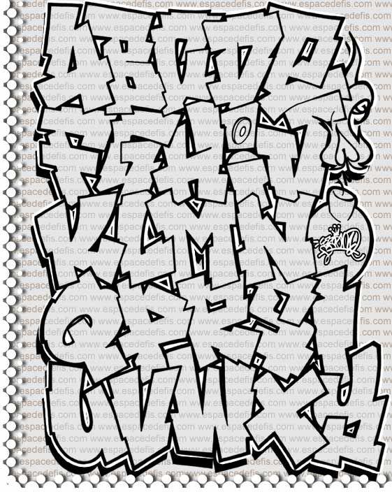Abecedarios de graffitis – Letras de graffiti Abc ike Graffiti street art ? Check https://www.etsy.com/shop/urbanNYCdesigns?ref=hdr_shop_menu