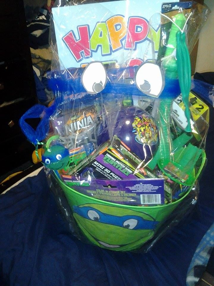 93 best childrens baskets images on pinterest easter gift tmnt birthday gift basket for young boyfree shipping in us from giftbasketsbymel negle Image collections