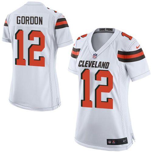 $24.99 Nike Elite Josh Gordon White Women's Jersey - Cleveland Browns #12 NFL Road