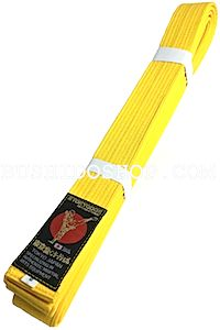Ceinture jaune Karate Tokyodo Taille 6 (310cm)