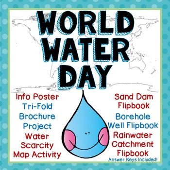 Celebrate World Water Day with this exciting pack of projects!  The info sheet will generate class discussion on the water crisis, and the trifold brochure project is a fun way for kids to show what they've learned about economic and physical scarcity.