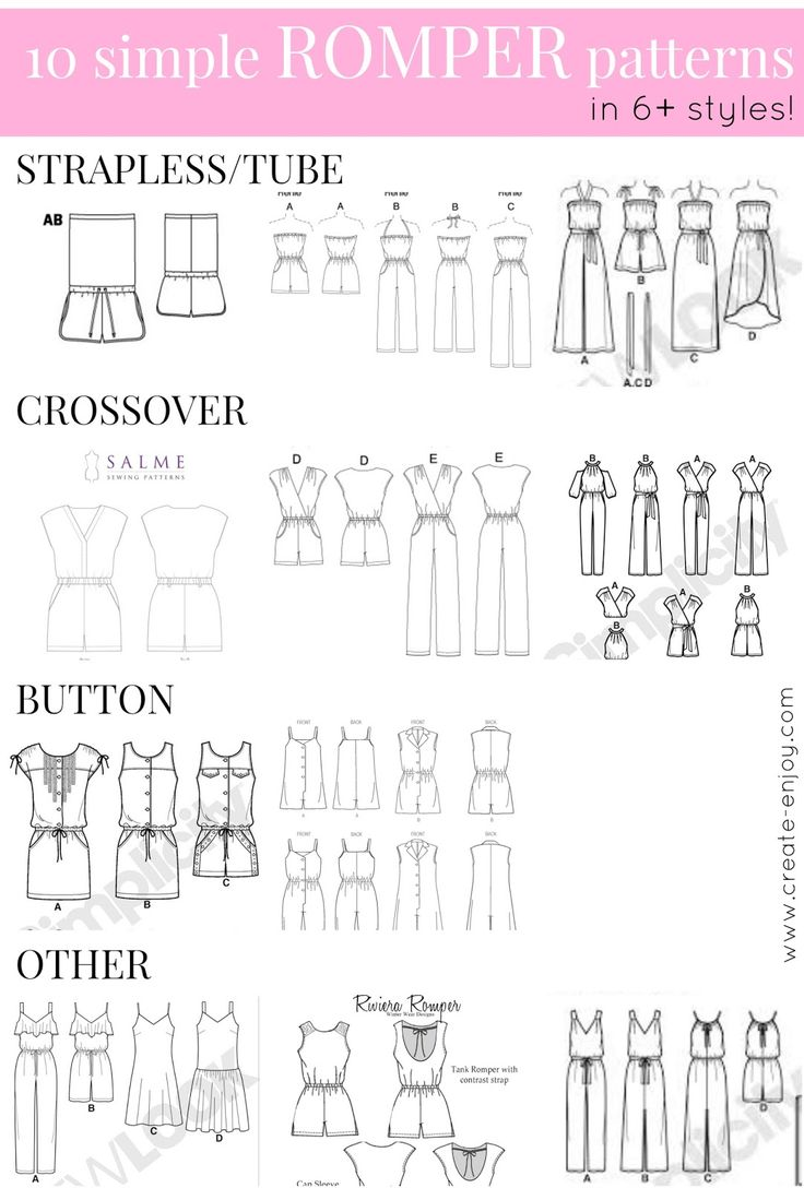 Create / Enjoy: 10 simple romper patterns--in 6+ styles