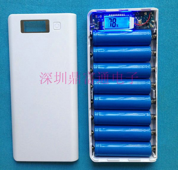no battery DIY Power Bank BOX with circuit board LED display suit for 8 18650