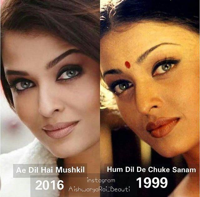 Jav I Aishwarya Rai - after: different nose, bigger eyelids, fuller lips, higher cheeks