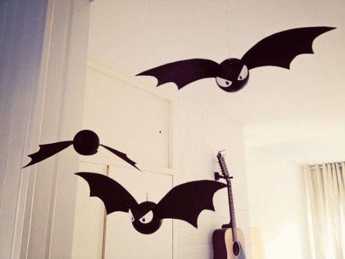 diy decorative bats for halloween