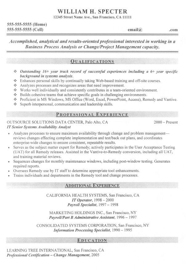 16 best Sample Resumes images on Pinterest Sample resume, Resume