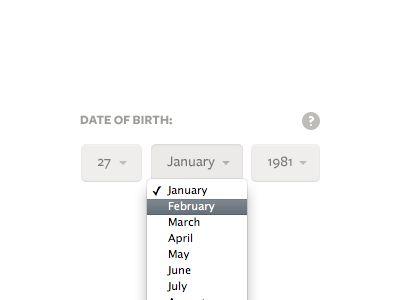 Date of birth dob picker