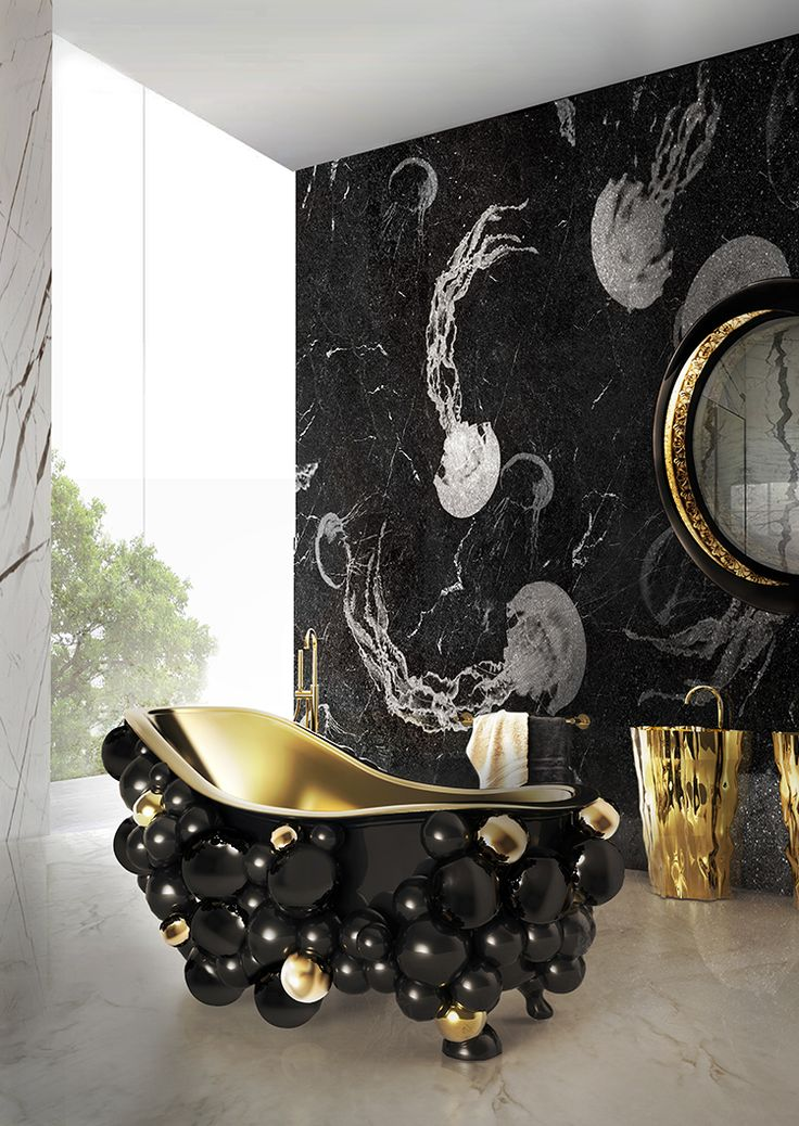 NEWTON BATHTUB BY MAISON VALENTINA |Newton bathtub is a piece of international desire that distinguishes itself from all the other designs by its futuristic forms. www.bocadolobo.com #luxuryfurniture #bathroomideas