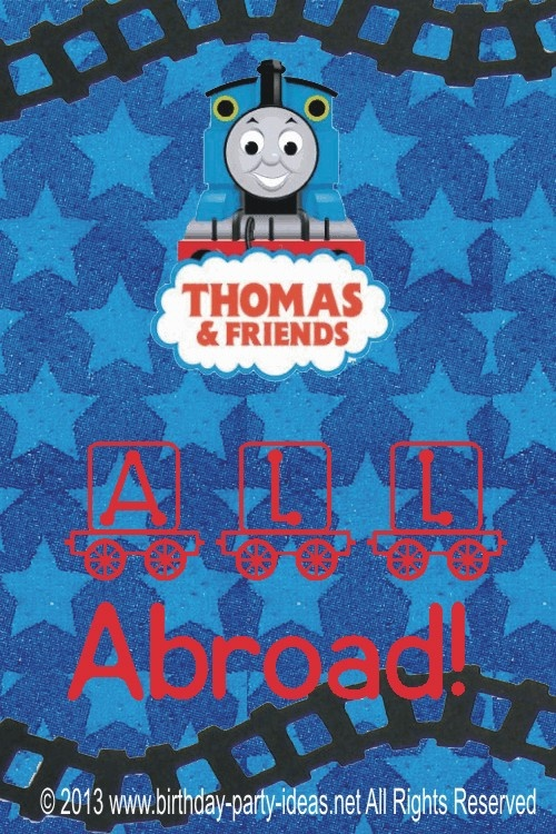 327 best images about Thomas the Train theme birthday party on – Train Birthday Invitation Wording