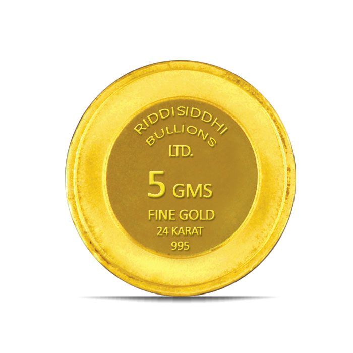 5 Gms 24 KT Gold Coin 995 Purity