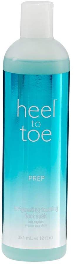 Heel to Toe Invigorating Foaming Foot Soak Ad-Helps soothe and relax tired feet Helps deodorize foot odor Softens and conditions Soak tired feet in a blend of natural sea salt and natural aloe vera that helps revive and balance moisture. The deodorizing, softening and conditioning effects will prepare feet for the perfect pedicure.