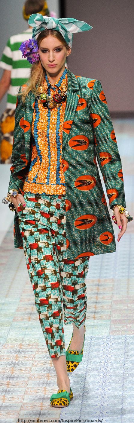 Milan Spring 2014 - Stella Jean ~African Prints, African women dresses, African fashion styles, African clothing, Nigerian style, Ghanaian fashion