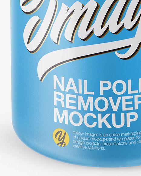 Nail Polish Remover Bottle Mockup - Front View (High Angle Shot)