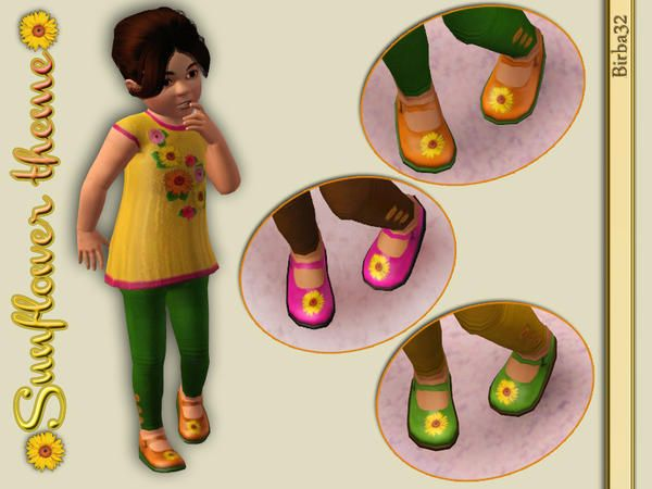 Birba32's Toddler Sunflower Shoes