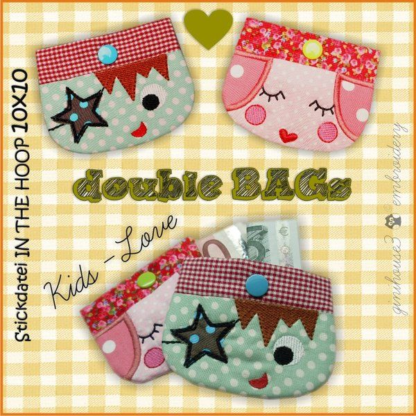 double BAGs ❤ KidS - Love ❤ Stickdateien 10x10 ITH - ginihouse3