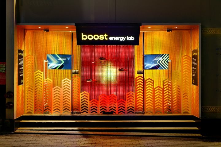 adidas  Boost™ Energy Lab pop up store by URBANTAINER, Seoul   Korea shoes pop up