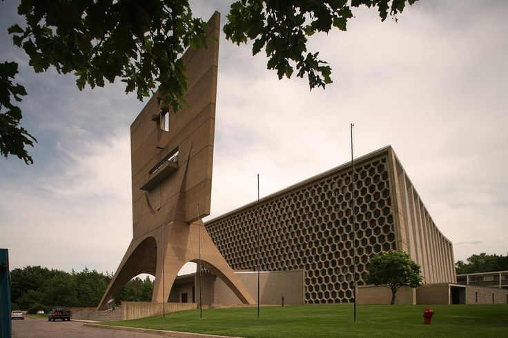 St. John's Abbey Church, Collegeville MN (1958-61) | Marcel Breuer | Photo : Richard Anderson | Visit site for more photos