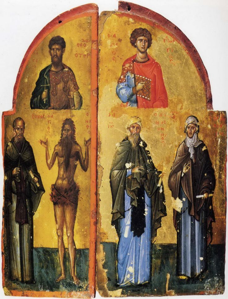 Царские врата, с избранными святыми XIV