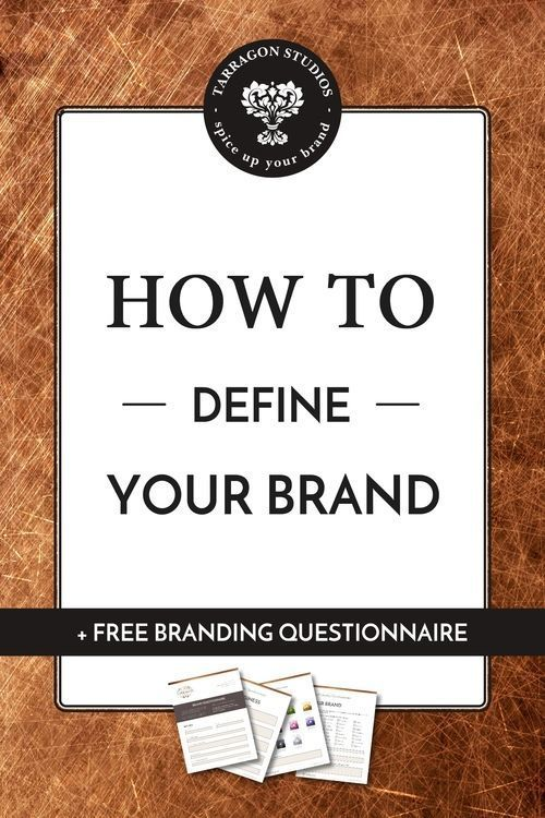 How to define your brand + free branding questionnaire. Click the image to