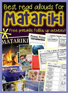 Best Matariki books for Primary + FREE follow activity sheets! {Green Grubs Garden Club Blog}