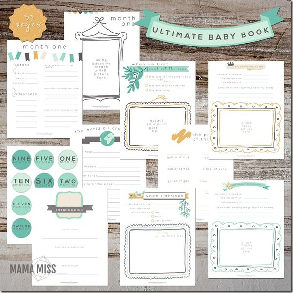 Ultimate Baby Book | @mamamissblog #babybook #planner #babysfirsts