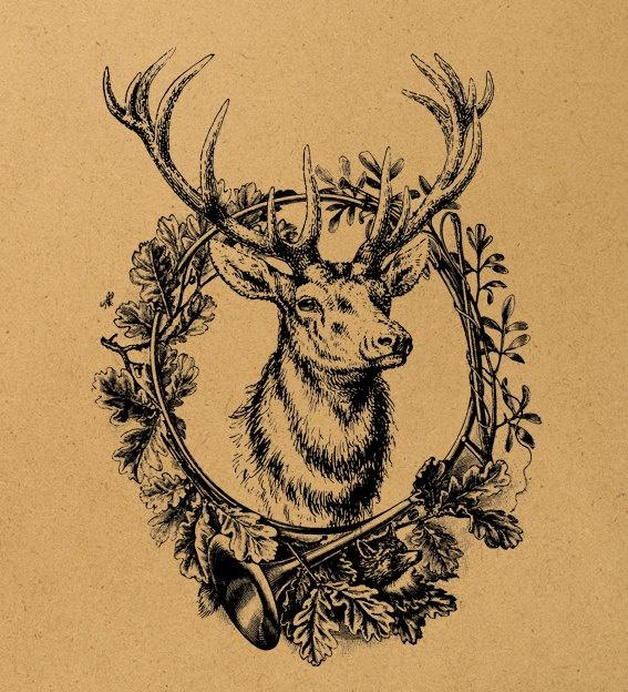 Elk Digital Image Download Sheet Transfer To by MillionDownloads, $1.00