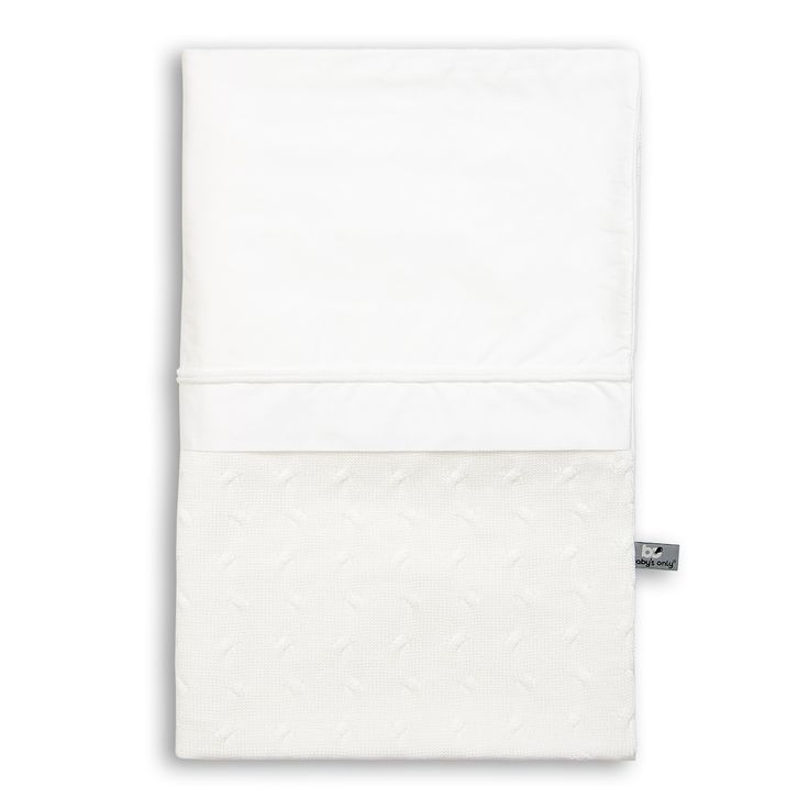 Cable Uni - Duvet cover 135x100 - white by Baby's Only - www.babysonly.nl