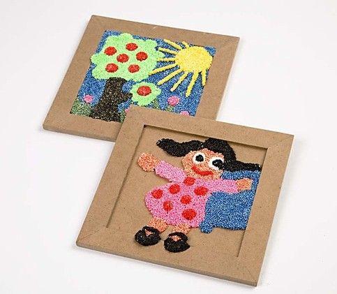 Maak eens een schilderijtje met Foam Clay! neem kleine stukjes van de klei, druk…