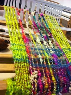 Spin City: Make It Monday! Weave a Scarf with Handspun Yarn!