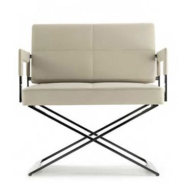 ASTER X ARMCHAIR Designed by Jean-Marie Massaud Manufactured by Poltrona Frau