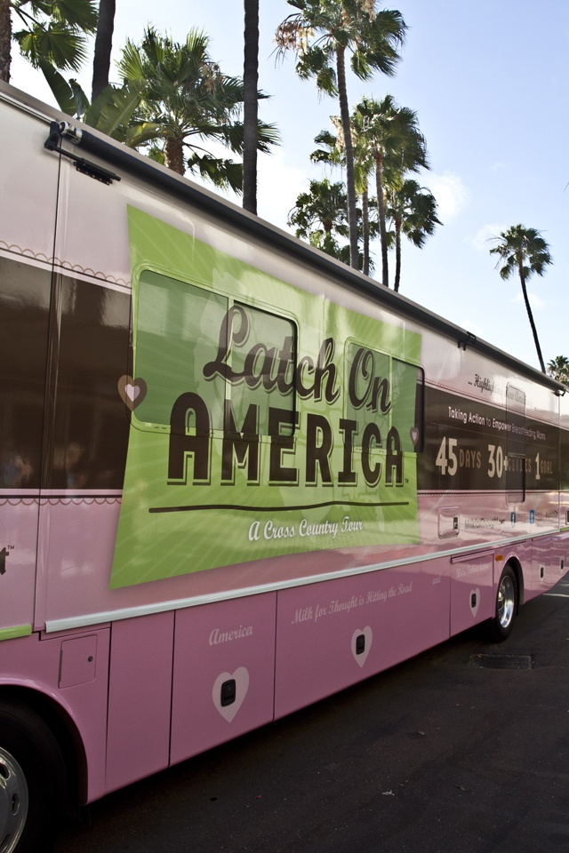 Milk For Thought's Latch On America Tour Bus design | Modern Species  Photo by Logo Futej