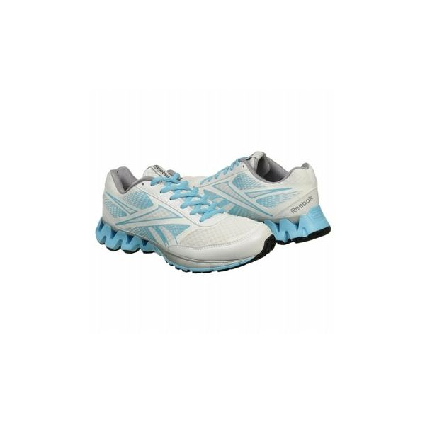 Reebok Women's Zigkick Ride Shoes (White/Blue/Grey)