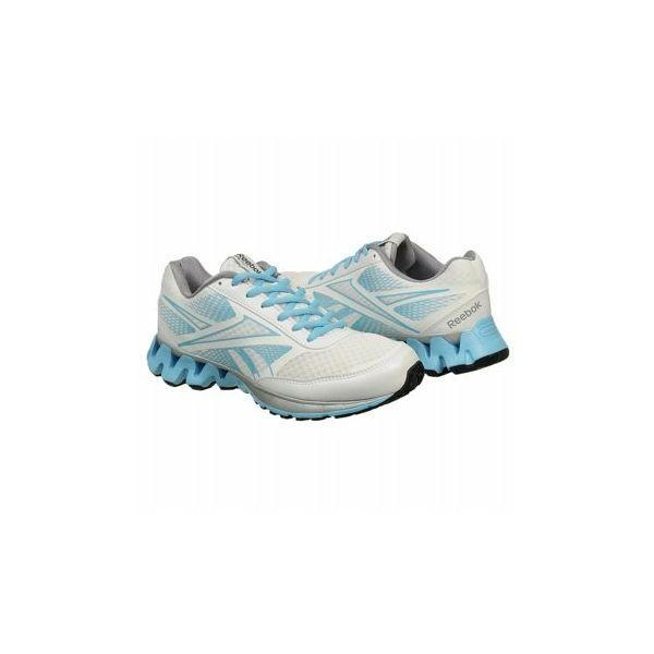 Reebok Women's Zigkick Ride Shoes (White/Blue/Grey)