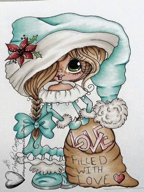 INSTANT DOWNLOAD Digital Digi Stamps Big Eye Big Head Dolls NEW Besties Img690 My Besties By Sherri Baldy