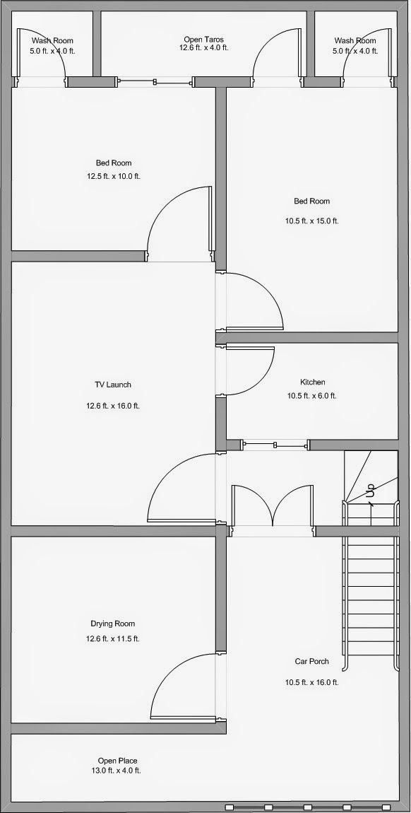 16 X 50 House Plans Awesome House Plan 25 X 50 Awesome Alijdeveloper Blog Floor Plan In 2020 Indian House Plans 30x40 House Plans Budget House Plans